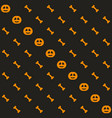 halloween pattern seamless background with bones vector image