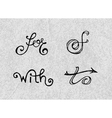 Handwritten catchwords and ampersands vector image vector image