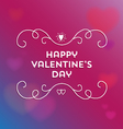 happy valentines day text and filigree vector image