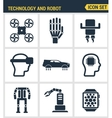 Icons set premium quality of future technology and vector image
