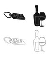 isolated object food and drink icon collection vector image