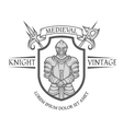 Knight warrior in armor with a sword vector image vector image
