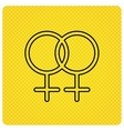 Lesbian love icon Homosexual sign vector image