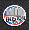 logo for boston vector image vector image