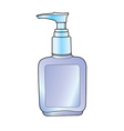 lotion pump bottle vector image vector image