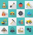 minig industry icon cartoon set vector image vector image