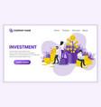 modern flat design concept investement money vector image vector image