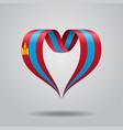 mongolian flag heart-shaped ribbon vector image vector image