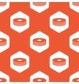 Orange hexagon disc pile pattern vector image