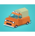 Orange pickup with tent vector image vector image