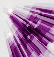 Perspective violet abstract straight lines vector image vector image