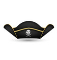 pirate captains hat on a white background vector image