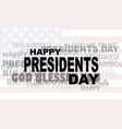 presidents day flag usa icon words big sale eps vector image