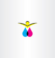 print ink man logo icon symbol vector image