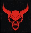 Red Demon Skulls vector image vector image