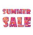 sale banner big summer sign white background vector image
