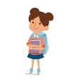 School kid girl education character vector image vector image