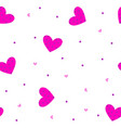 seamless pattern with hearts and geometrical vector image