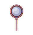 search magnifying glass icon vector image vector image