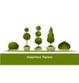 set garden topiary vector image vector image