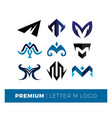 set letter m logo premium vector image vector image