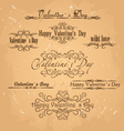 set of calligraphic design elementsValentines day vector image