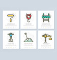 set of construction and repair colored elements vector image vector image