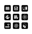 set of icons for computer and electronic theme vector image vector image