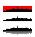 silhouette of ulrichsberg austria vector image vector image