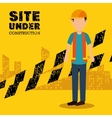 site under construction icon vector image vector image
