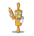 student rolling pin character cartoon vector image vector image