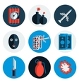 Terrorism flat icons vector image vector image