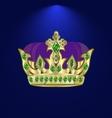 tiara with precious stones 7 vector image vector image
