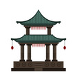 traditional chinese building cultural oriental vector image vector image