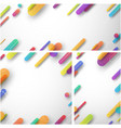 white abstract backgrounds with colorful strokes vector image vector image