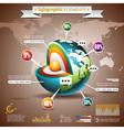 World map and information graphics vector image vector image