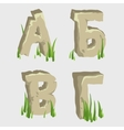 First four letters of the Russian alphabet vector image