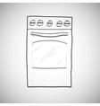 gas stove - hand drawn sketch vector image