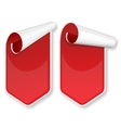 Red packing stickers set vector image