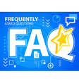 bright faq of star on blue background for ba vector image