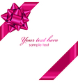 pink ribbon with bow vector image