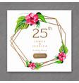 25 watercolor wedding anniversary floral frame vector image vector image