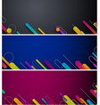 abstract banners with colorful strokes vector image vector image
