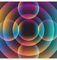 Abstract circle vibrant background vector image vector image