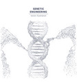 abstract wireframe genetic engineering concept