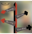 Alice Set of Four Arrow Signs from Wonderland vector image vector image