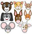 animals baset vector image vector image