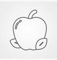 apple icon sign symbol vector image vector image