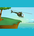 army helicopter in nature vector image vector image