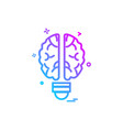 artificial brain intelligence icon design vector image